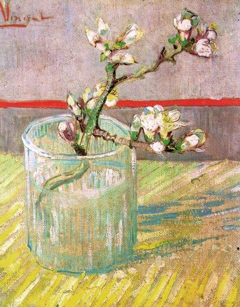 ゴッホとゴーギャン展_グラスに生けた花咲くアーモンドの小枝.jpg
