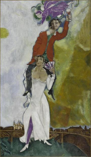 ポンピドゥー・センター傑作展_Chagall_Double portrait au verre de vin.jpg