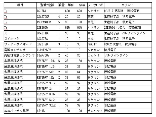金田式DCアンプ_保護回路基板部品表.jpg